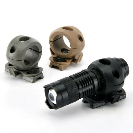 img-Outdoor Tactical Quick Release Flashlight Clamp Holder Mount for Fast Helmet