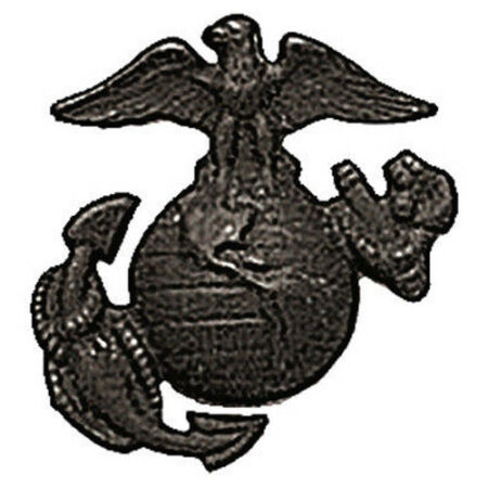 img-usmc insignia marine corps pins for cap hat uniform black globe & anchor 2753