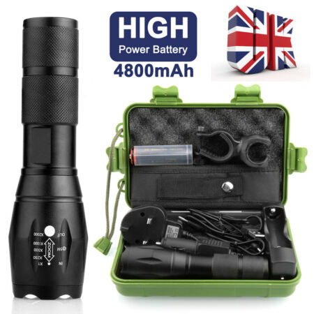 img-20000lm Police Tactical Flashlight CREE XML L2 LED Military Torch Gift Kits Set