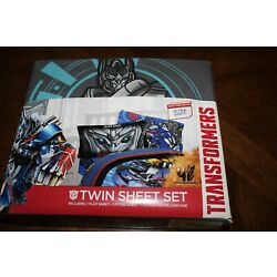 Kyпить Hasbro Transformers Twin Bed Sheet Set Silver Knight Flat Fitted & Pillowcase на еВаy.соm
