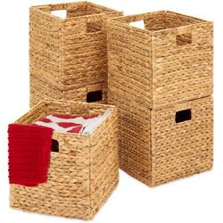 Best Choice Products Set of 5 Multipurpose Collapsible Baskets, Hyacinth Storage