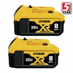 Kyпить for Dewalt 20V 20Volt Max XR 6.0AH Lithium Ion Battery DCB206-2 DCB205-2 2 Pack на еВаy.соm