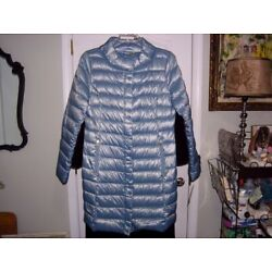 Kyпить Shimmering T Tahari Goosedown Puffer Coat Blue/MERMAID! Sz L #628087 NEW w/Tags на еВаy.соm