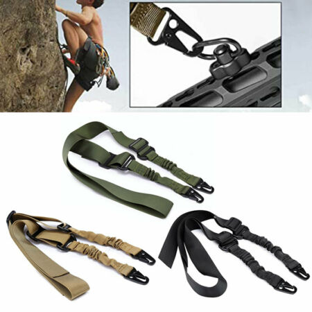 img-Outdoor Shoulder Rifle Gun Sling Strap Hunting Tactical Airsoft Rope Belt HOT