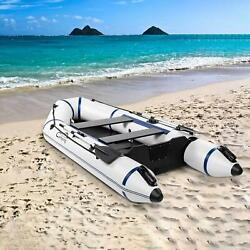 Kyпить 7.5FT/10FT PVC Inflatable Boat Raft Tender w/ Oar Aluminum Floor for Fishing на еВаy.соm