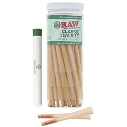 RAW Cones Classic 1 1/4 Size: 50 Pack - Pre Rolled Cones with Filter Tips