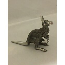 Kyпить Australian pewter kangaroo with joey figurine на еВаy.соm