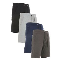 Kyпить Men's 3 Pack Sweat Shorts Soft Casual Cotton French Terry Fleece Lounge Gym Fit на еВаy.соm