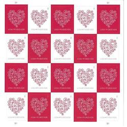 Kyпить 100 (5 Sheets of 20 Stamps) USPS Love Hearts Forever Stamps  -  MNH~Brand New на еВаy.соm