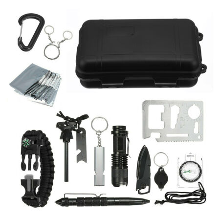 img-14 in 1 SOS Kit Outdoor Emergency Equipment Box For Camping Survival Gear UK
