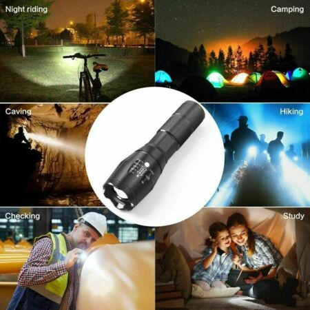 img-Torch Flashlight Torch led Walking Torch self Defence Super Bright Military Grad