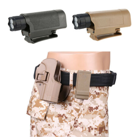img-Camping Plastic Holder Flashlight Pouch Adjustable Army Accessories Led Outdoor