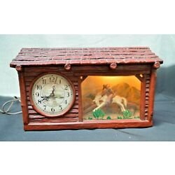 Kyпить Vintage Haddon Clock - Cowboy & Bronco   Works All the Way! на еВаy.соm
