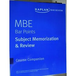 MBE Bar Points Subject Memorization and Review 2019