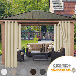 Kyпить Waterproof Outdoor Curtains for Patio - Thermal Insulated, Sun Blocking 2 panels на еВаy.соm