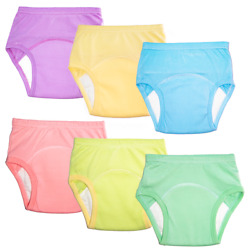 Kyпить Potty Training Pants for Girls, 6 Pack Solid Colors Training Underwear(1T2T3T4T) на еВаy.соm