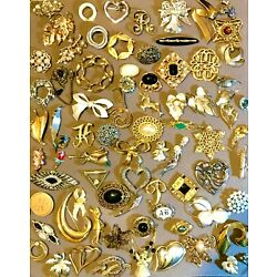 Kyпить 75 Piece Vintage to Modern Gold  Silver Tone Brooch Pin Figural Lot Some Signed на еВаy.соm