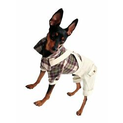 One Tail Four Paws Lumberjack Bodysuit for Pets, X-Large, Brown Plaid