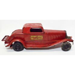 Kyпить Old Antique GIRARD FIRE CHIEF SIREN COUPE Fire Engine WIND UP TOY -WORKS- на еВаy.соm