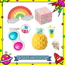 4Pack Figet-Toys Anti-Stress-Toy-Set Marble Relief Gift Adults Children Sensory