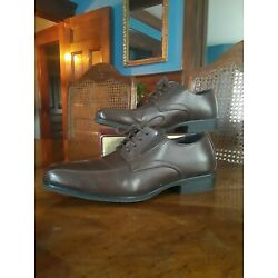AFANI Dark Brown Dress Leather Shoes size 8.5
