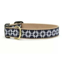 Up Country - Dog Puppy Design Collar - Made In USA - Gridlock - L - Navy Blue