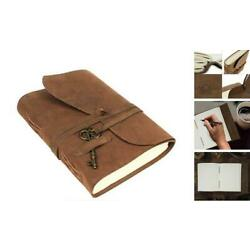 Kyпить  Handmade Genuine Vintage Leather Journal with Key - Antique Handmade Leather  на еВаy.соm