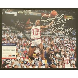 Kyпить DENNIS RODMAN BAD BOYS Pistons Signed Autographed 11 x 14 Photo PSA DNA #AF60212 на еВаy.соm