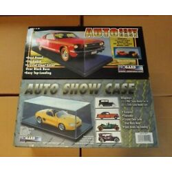 PROGARD AUTO SHOWCASE DISPLAY CASE LOT OF 2 FOR 1/18 OR 1/24 SCALE MODEL CARS