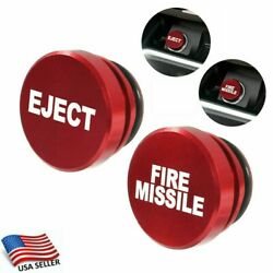 Fire Missile Eject Button Car Vehicle Cigarette Lighter Cover Replacement Decors