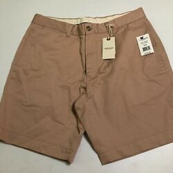 OOBE Mens Pink Pearl NWT $128 Shorts Flat front 34 x 8.5 Cotton Linen Blend