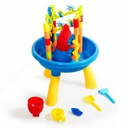 2 in 1 Sand and Water Table Activity Play Center Kids Splash Pond Beach Toy