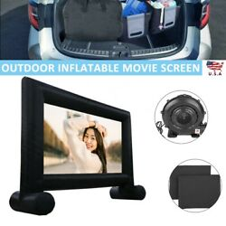 Kyпить 16 ft Inflatable Movie Outdoor Projector Screen Portable with Blower & Carry Bag на еВаy.соm