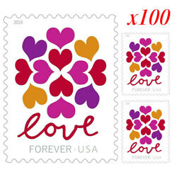 Kyпить 100 Pcs 2019 USPS Hearts Blossom Love Forever Stamps 5 x 1 Sheet of 20 Stamps на еВаy.соm