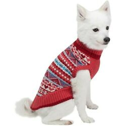 Blueberry Fair Isle Style Sugar Coral Dog Sweater 20'' Pullover Dog Sweater TE 02