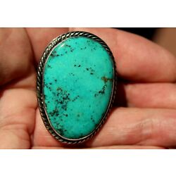 Kyпить Gorgeous HUGE Kevin Yazzie Navajo Sterling Silver & Turquoise Stone TUFA Ring на еВаy.соm