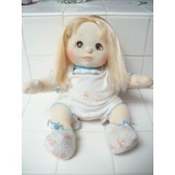 Kyпить MY CHILD DOLL 1985 BLONDE HAIR BROWN EYES STILL POSEABLE + OUTFIT  на еВаy.соm