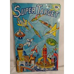 Kyпить RARE SUPER TARGET SUPERIOR TOY Co TIN LITHOGRAPHED SPACE ROCKET GAME BOARD на еВаy.соm