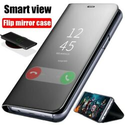 For Samsung Galaxy A12 A32 A42 A52 5G Smart Leather Flip View Mirror Case Cover