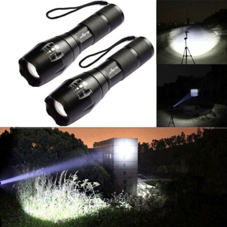 img-T6 Tactical Military LED Flashlight 10000LM Zoomable 5-Mode Without Batt C3A