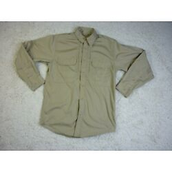 5.11 Tactical Series Button Up Shirt Beige Adult Small Law Enforcement Security