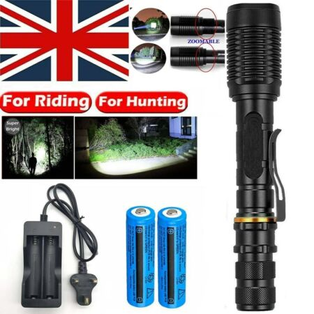 img-Super Bright Torch Police Tactical Military 990000LM Rechargeable LED Flashlight