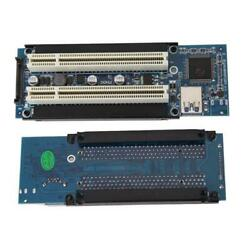 PCI-E Express X1 to Dual PCI Riser Extend Adapter Connector Add Expansion Card