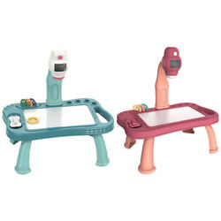 Children Led Projector Art Drawing Table Toys Kids Painting Board Desk Arts