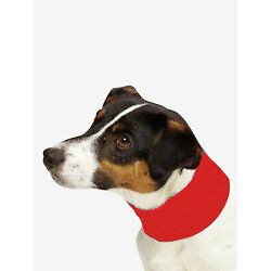 NEW! COOLING INSECT SHIELD DOG PET NECK GAITER SCARF BUG PROTECTION RED