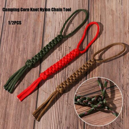 img-Outdoor Camping Corn Knot Nylon Chain Tool Knife Pendant Survival Ropes
