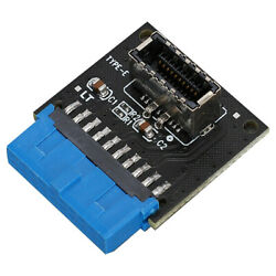 19Pin To TYPE-E 20Pin Data Transfer Adapter Front Facing High Speed Motherboard