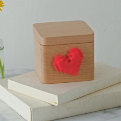 Lovebox Spinning Heart Messenger (Black & While) - Free shipping