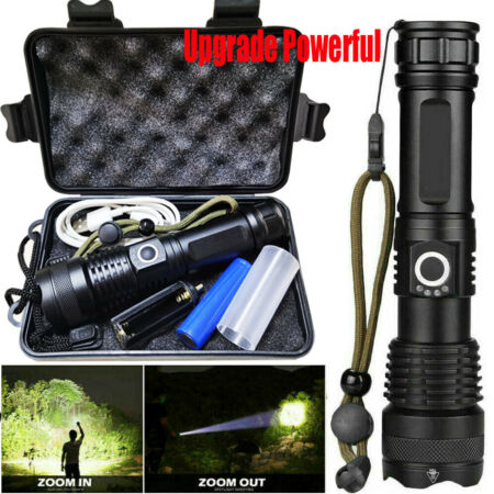 img-Ultra Bright Torch Powerful LED Flashlight Tactical XHP90 Lamp USB Rechargeable
