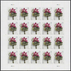 100 USPS FOREVER COLLECTION, 5 Sheets of Boutonniere First Class Mail Postage!!